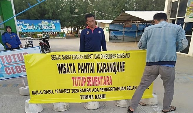 Antisipasi Corona, Museum Kartini Hingga Pantai Karangjahe Ditutup Sementara