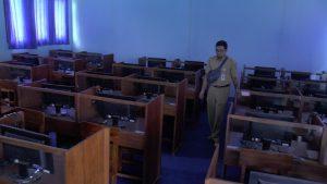 Suasana ruang ujian sekolah di SMA N I Rembang, tampak lengang, karena siswa diliburkan, Senin (16/03).