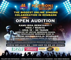 IMMR menggagas kegiatan audisi menyanyi online, menyikapi masa pandemi korona.