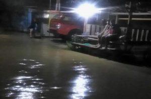 Banjir di Desa Pengkol, Kecamatan Kaliori, Sabtu malam (11/04).