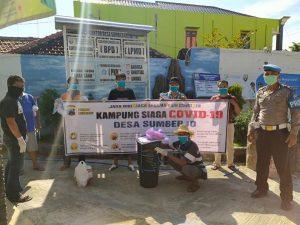 Pencanangan Kampung Siaga Covid-19 di Desa Sumberejo, Kecamatan Rembang Kota, Minggu (12/04).