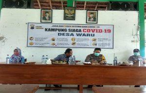 Polres Rembang mencanangkan Kampung Siaga Covid-19 di Desa Waru, Kecamatan Rembang Kota, Minggu (12/04).
