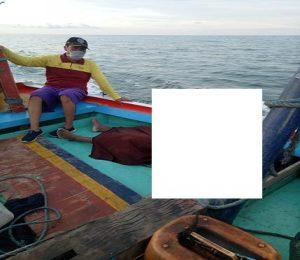 Nelayan warga Desa Tegalmulyo, Kecamatan Kragan yang hilang akhirnya ditemukan dalam kondisi meninggal dunia, Jum'at (17/04).