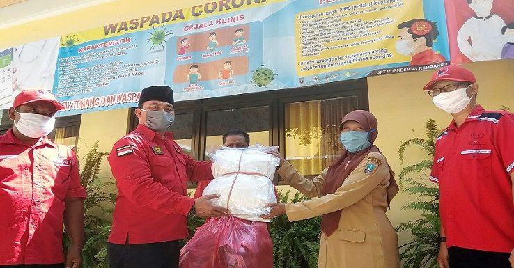 Bantu Rumah Sakit Dan Puskesmas, PDI P Rembang Gelar Aksi Banteng Seruduk Corona