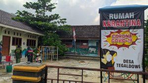 Rumah karantina di Desa Tegaldowo, Kecamatan Gunem mulai mengisolasi 4 warga yang baru pulang dari daerah perantauan, Kamis (23/04).