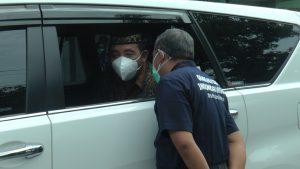 Bupati Rembang, Abdul Hafidz menerima laporan dari Kepala Dinas Kesehatan, terkait perkembangan kasus Covid-19.