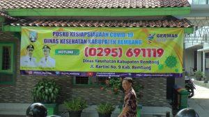 Posko Kesiapsiagaan Covid-19 Dinas Kesehatan Kabupaten Rembang yang menjadi sumber informasi perkembangan Covid-19.