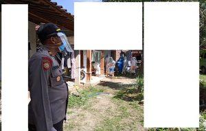 Kapolsek Kaliori, Iptu Sunarto ikut memantau contact tracing petugas Puskesmas, pasca seorang warga dinyatakan positif Covid-19.