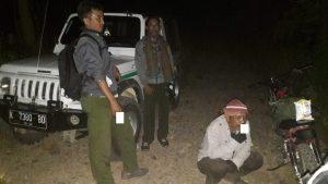 Situasi penjagaan Polhut di hutan Kalinanas, perbatasan antara Kabupaten Rembang, Blora dan Pati.