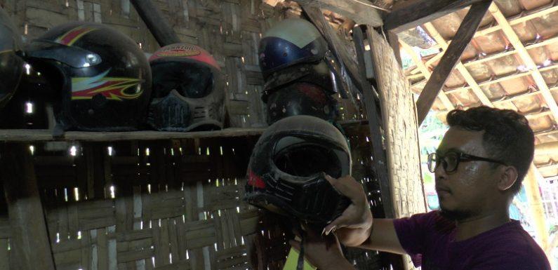 Gandrung Helm Jadul, Tak Dijual Meski Banyak Yang Menawar