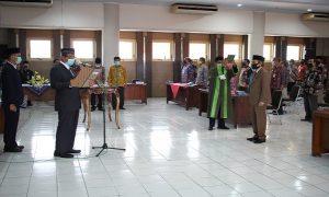 Pelantikan Penjabat (PJ) Sekda Rembang, Achmad Mualif, Selasa (02/06).