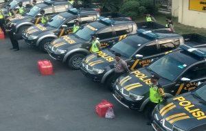Apel kesiapan anggota polisi berlangsung di halaman Mapolres Rembang, belum lama ini.