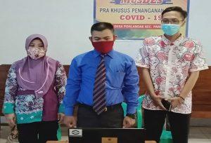 PPS Desa Pohlandak Kecamatan Pancur dilantik via online, awal pekan ini. Mereka langsung bekerja memetakan TPS dan pembentukan PPDP.