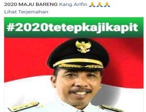 Tangkapan layar salah satu postingan di media sosial yang menyebutkan Abdul Hafidz berpasangan dengan Arifin.