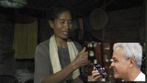 Kartini, wanita yang tinggal di tengah hutan sempat mendapatkan telefon dari Gubernur Jawa Tengah, Ganjar Pranowo.