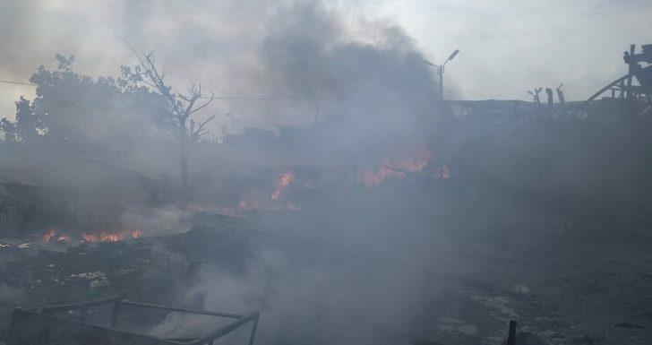 Kebakaran Di Pelabuhan Tasikagung, 7 Unit Bangunan Terdampak