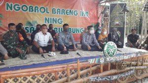 Bupati Rembang, Abdul Hafidz hadir dalam pembukaan Pasar Brumbung di Desa Banggi Petak, Kecamatan Kaliori, Minggu (26/07).