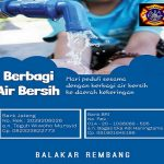 Penggalangan dana untuk membantu air bersih yang diprakarsai Balakar & Rescue Rembang.