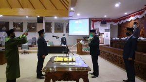 Mohammad Anshori dilantik menjadi anggota DPRD Rembang, Jum'at (25/09).