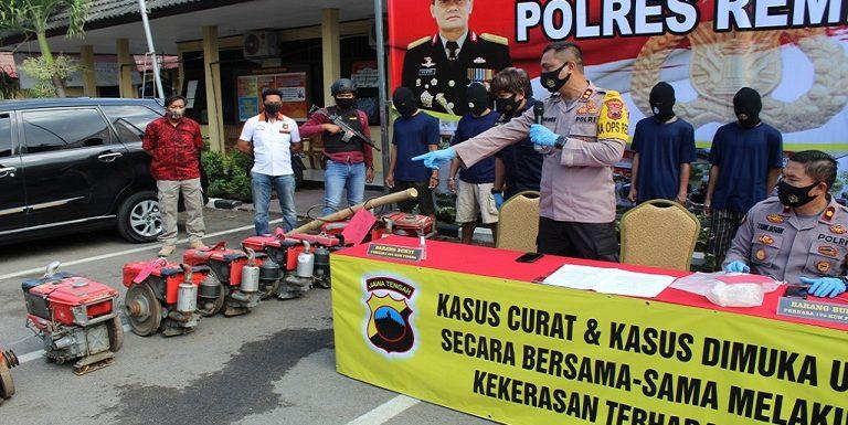 Sindikat Pencuri Mesin Traktor Digulung Polisi, Tersangka Ungkap Waktu Favorit Untuk Beraksi