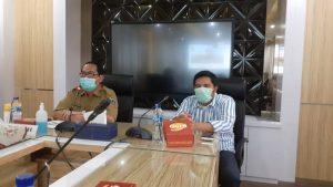 PJS Bupati Rembang, Imam Maskur dan Ketua Komisi A DPRD Jawa Tengah, Mohammad Saleh.