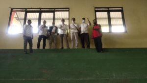 Pengurus KONI Pati Raya, Kamis sore (05/11) mengecek GOR Mbesi Rembang, yang akan dijadikan venue pertandingan pencak silat, pada Porprov Jawa Tengah.