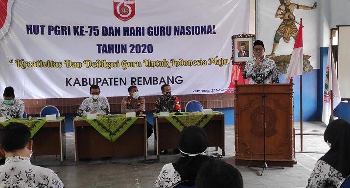 PJS Bupati Hadir Dalam Perayaan Hari Guru Nasional, Singgung Perlindungan GTT