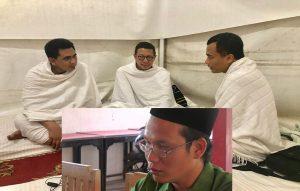 Luqman Hakim Saifuddin, Menteri Agama kala itu (tengah) ketika diapit Taj Yasin dan Arwani Thomafi. (Insert) Pelaksana Tugas Ketua DPC PPP Kabupaten Rembang, Zaimum Umam.
