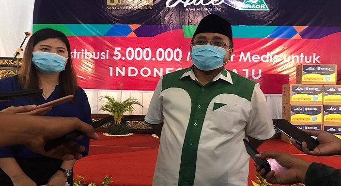 Waktunya Tepat Jelang Pilkada, Pembagian 5 Juta Masker Diawali Dari Rembang