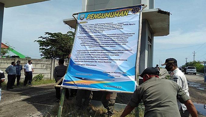 Satpol PP Dan Kepolisian Turun Ke Pelabuhan, 6 Titik Dipasangi Banner Pengumuman. Isinya ?