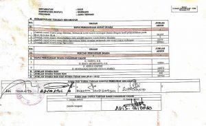 Dokumen rekapitulasi suara Kecamatan Sale, tidak ditandatangani saksi pasangan calon Harno – Bayu. (Foto atas) Rekapitulasi suara Pilkada di PPK Sale, selesai Sabtu dini hari.