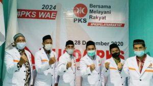 Pengurus PKS Kabupaten Rembang 2020 – 2025 foto bareng di sela-sela kegiatan Musda, Senin siang (28/12).