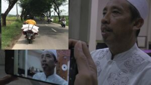 Bupati Rembang, Abdul Hafidz. (Insert) Petani mengangkut pupuk.
