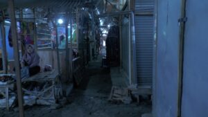 Kondisi Pasar Rembang sepi saat pandemi masih terjadi di bulan Januari 2021 ini.