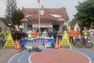 Satgas Quick Respon Penanganan Kecelakaan lalu Lintas Terpadu di Rembang, hari Kamis (29/04) menggelar konsolidasi, menjelang Operasi Ketupat Candi 2021.