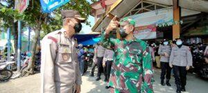Kapolres dan Dandim Rembang berkoordinasi, terkait pengamanan malam takbiran.