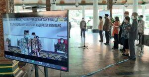 Pelantikan 97 orang pejabat oleh Bupati Rembang, Abdul Hafidz, Selasa (29/06).