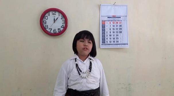 Siswi SDLB Ini Tembus Nasional, Wakili Jawa Tengah Dalam Ajang FLS2N