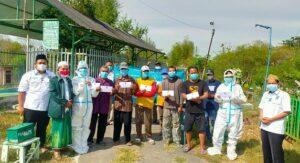 DPC PKB Kabupaten Rembang menyalurkan tali asih kepada petugas pemulasaraan dan pemakaman jenazah Covid-19, hari Jum'at (16/07).