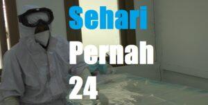 Chamim, seorang petugas kamar jenazah RSUD dr. R. Soetrasno Rembang. (Foto atas) Pasien Covid-19 meninggal dunia, Kamis (08/07).
