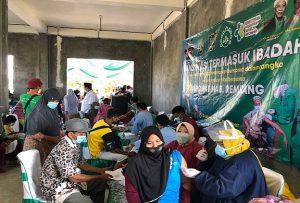 DPC PKB Kabupaten Rembang menggelar vaksinasi Covid-19, di gedung NU Sumber.