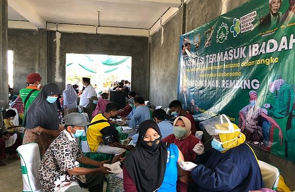 Sediakan 600 Dosis, Vaksinasi PKB Diserbu Masyarakat