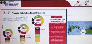Kepala Perwakilan SKK Migas Jawa-Bali Dan Nusa Tenggara (Jaba Nusa), Nurwahidi memaparkan kebutuhan energi nasional. (Foto atas) Laut utara Rembang.