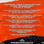 Jadwal pertandingan tim PSIR Rembang di group C.